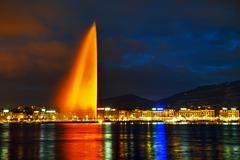 Geneva Water Fountain (Jet d'Eau) Stock Photos