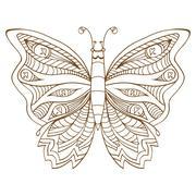 Butterfly vector illustration Stock Illustration
