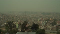 Nepal 1 Year After the Earthquake. View on Kathmandu Smog 4K - stock footage