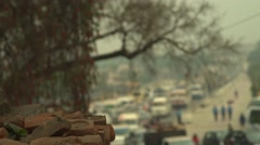 Nepal 1 Year After the Earthquake. Main Road to Parliament 4K - stock footage