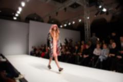 Fashion runway out of focus - stock photo