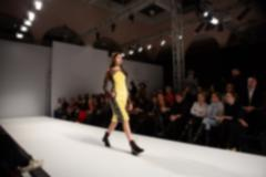 Stock Photo of Fashion runway out of focus