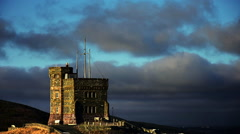 Cabot Tower Time-lapse on a cloudy day Stock Footage