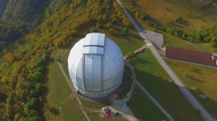 Karachay-Cherkessia, top view of the Russian Academy of Sciences Large Telescope Stock Footage