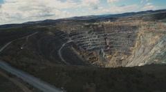 Large diamond mine in Siberia  Stock Footage