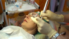 The procedure of permanent makeup Stock Footage