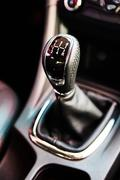 manual gearbox in the car - stock photo