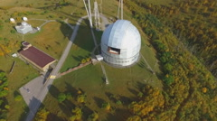 Top view of the Russian Academy of Sciences Large Telescope Stock Footage
