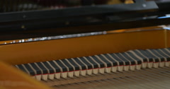 Inside Piano Stock Footage