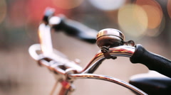 Bicycle parking in Europe. Close-up Stock Footage