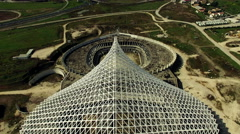 Vela designed by architect Calatrava under costruction in Rome. Aerial video N. Stock Footage