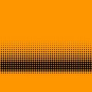 Retro halftone black dots gradient lower third Stock Illustration