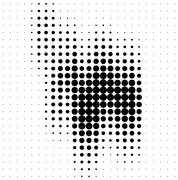 Stock Illustration of Abstract halftone soundwave design element