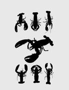 Lizard Silhouette Stock Illustration