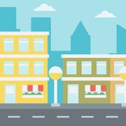 Background of modern city - stock illustration