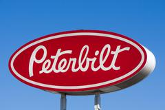 Peterbilt Motors Sign and Logo Stock Photos
