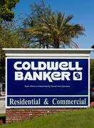 Coldwell Banker Real Estate Office Sign and Logo - stock photo