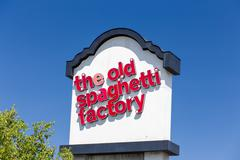 The Old Spaghetti Factory Sign and Logo - stock photo