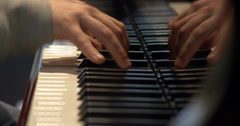 Young Piano Player Stock Footage