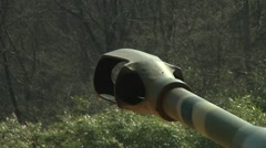 Howitzer Artillery Live Shoot - Close of muzzle firing Stock Footage