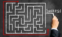 Labyrinth pattern Stock Photos