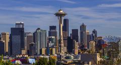 Downtown Seattle at daylight - stock photo