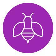 Bee line icon - stock illustration