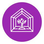 Greenhouse line icon Stock Illustration