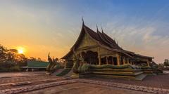 Sirindhorn Wararam Phu Prao Temple (Wat Phu Prao) Landmark Place Of Thailand Stock Footage