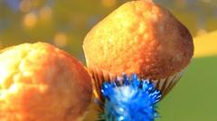 Orange background - rotation - Muffin - Baker - 02 Stock Footage
