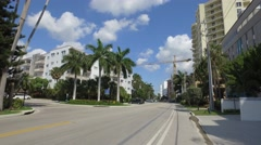 Bay Harbor Island Miami Beach Stock Footage