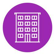 Stock Illustration of Residential building line icon