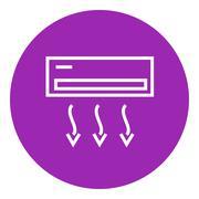Air conditioner line icon Piirros