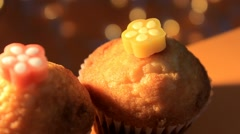 Orange background - rotation - Muffin - Centre - 04 Stock Footage