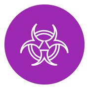 Bio hazard sign line icon Stock Illustration