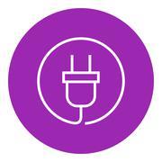 Stock Illustration of Plug line icon