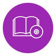 Stock Illustration of Audiobook and cd disc line icon