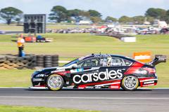 PHILLIP ISLAND, MELBOURNE/AUSTRALIA - 17 APRIL 2016:Hot Wheels drivers entertain - stock photo