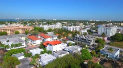 Miami Beach 80th Street Midbeach aerial Stock Footage