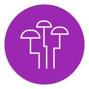 Stock Illustration of Mushroom line icon