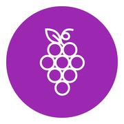 Stock Illustration of Bunch of grapes line icon