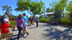 People walking in Legoland Florida Stock Footage