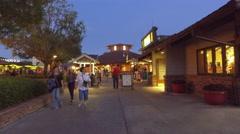 Disney Springs Orlando at night Stock Footage