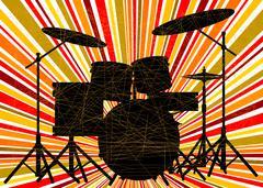 Jazz Drum Kit Stock Illustration