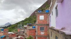 RIO DE JANEIRO, RJ - BRAZIL,  Community Santa Marta, Stock Footage