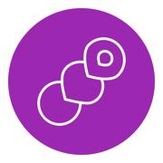 Spiral bread line icon - stock illustration