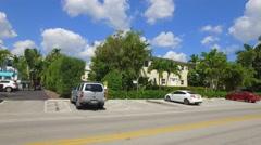 Bay Harbor Islands Miami Beach lowrise condominiums 4k Stock Footage