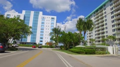 Vintage condominiums Miami Beach Bay Harbour Island 4k - stock footage