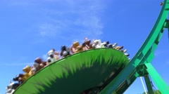 Mia's Riding Adventura rollercoaster Stock Footage
