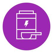 Stock Illustration of Sport nutrition container line icon